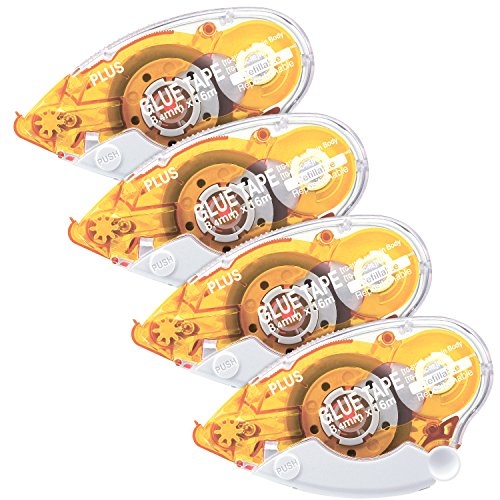 (Plus Corporation Glue Tape Tg-610Bc-Re, Repositionable Adhesive, 4-Pack (60387))