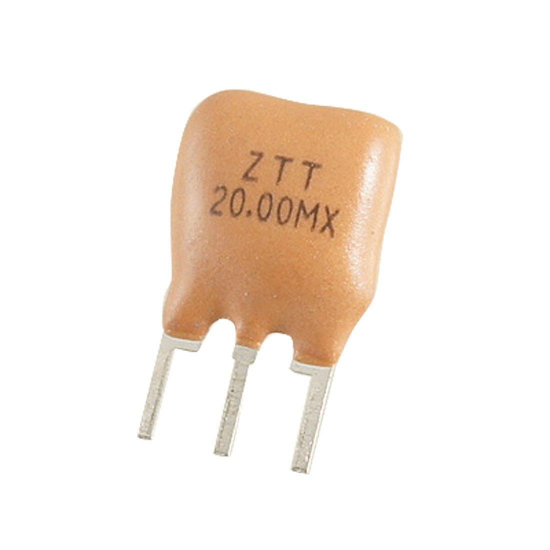 Uxcell a11101800ux0100 ZTT Series Through Hole Ceramic Resonators 3 Pins, 20 MHz