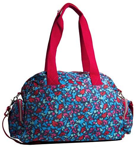 Big Handbag Shop - Bolso bandolera mujer Beige - Estampado animal (BH586)