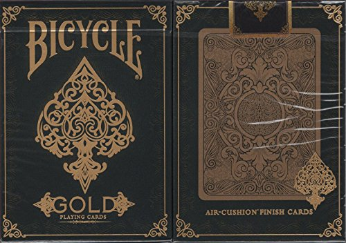 Bicycle Gold Playing Cards Poker Size Deck USPCC Custom Limited Edition (Elite Cards Playing)