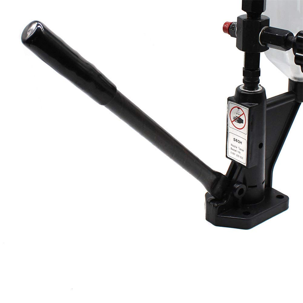 YIYIBY 600 Bar Diesel Einspritzd/üsen Pr/üfger/ät 0,8L Krafststoffdruckmesser mit doppelter Skalierung Injektoren Tester Diagnoseger/ät im Dieselmotor