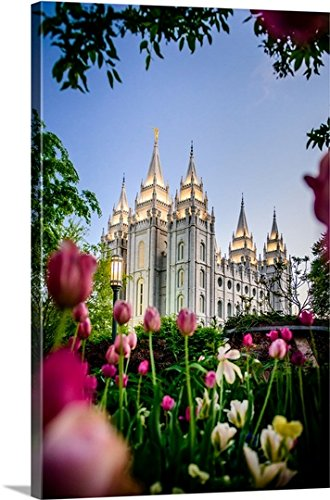 Scott Jarvie - Salt Lake Temple with Tulips