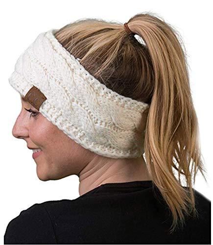 Heyuni.1PC Knit Headbands Winter Braided Headband Ear Warmer Crochet Head Wraps Girls5