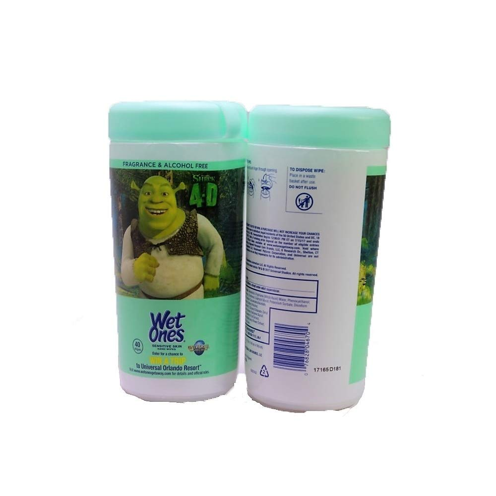 Wet Ones Sensitive Skin Hand Wipes, 40 Wipes/Pack, (Scentless) (3 Pack) by Wet Ones