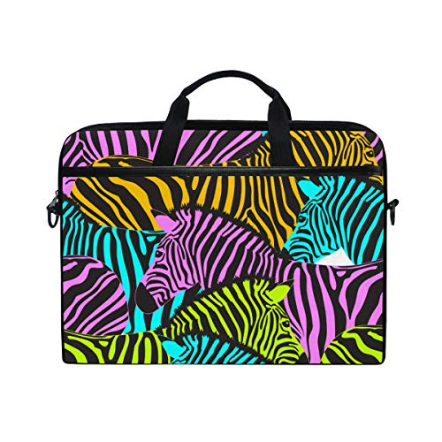 TARTINY 15-15.4 Inch Laptop Bag Colorful Zebra Seamless Pattern Savannah Animal Shoulder Messenger Bags Sleeve Case Tablet Briefcase with Handle - Double Handle Savannah