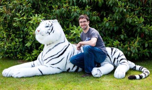Amazon Com Lifesize 7 Plush White Siberian Tiger Shrinkable