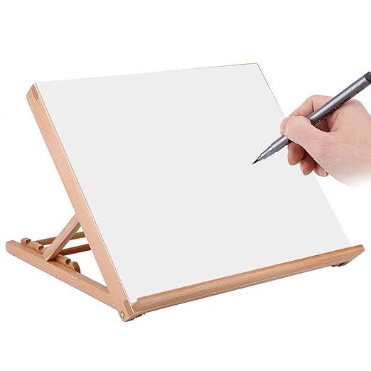 Madera tablero de dibujo, multifuncional A2 ajustable escritorio ...