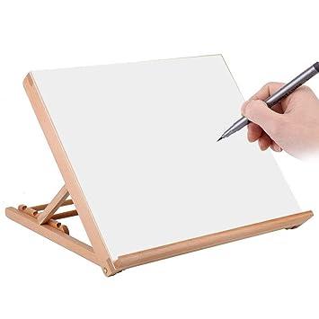 Tablero de dibujo de madera, multifuncional, A2, de escritorio ...