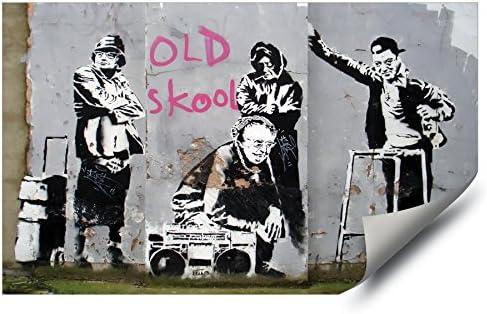 Banksy style Graffiti Neanderthal man McDonalds  Vinyl Wall Decal Sticker