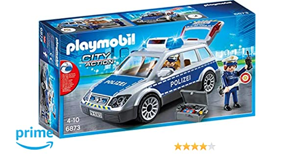 Playmobil Child Kids Toy 6920 City Action Squad Car with Lights And Sound