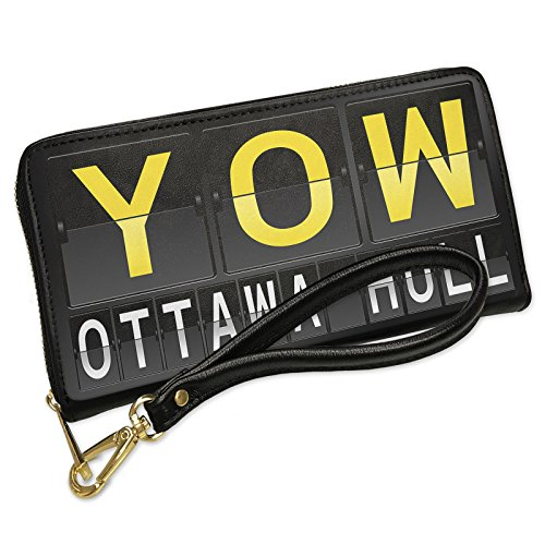 Wallet Clutch YOW Airport Code for Ottawa - Hull with Removable Wristlet Strap - Airport Ottawa Shops