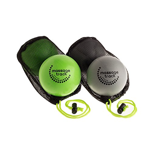 Massage Track Myofascial Release Ball Set, 2 Firm and 2 Very Firm Balls for Mobility, Trigger Point and Physical Therapy