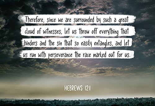 Bible Verse Wall Art And let us run with perseverance. Hebrews 12:1 Christian Poster