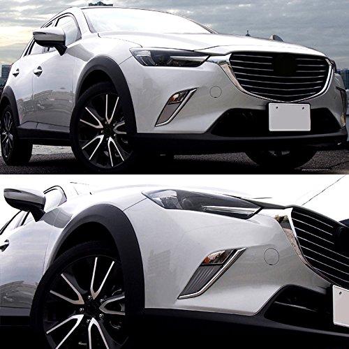 ABS cromado luz de niebla delantera l/ámpara decorativa de coche 2pcs para coche accesorios mzx3