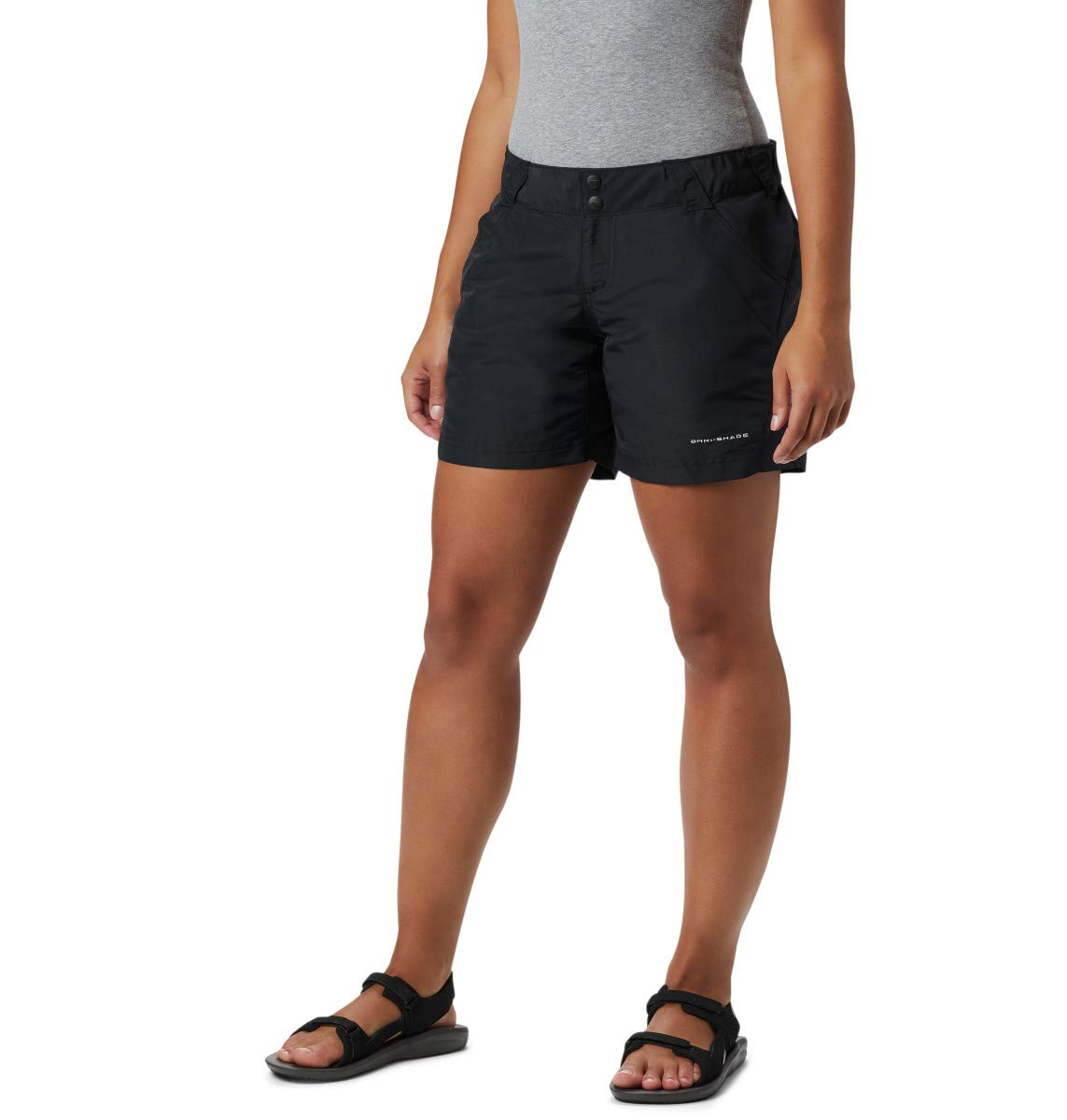 Columbia Women's Coral Point II Short, UV Sun Protection, Moisture Wicking Fabric, Black, Small x 6'' Inseam by Columbia