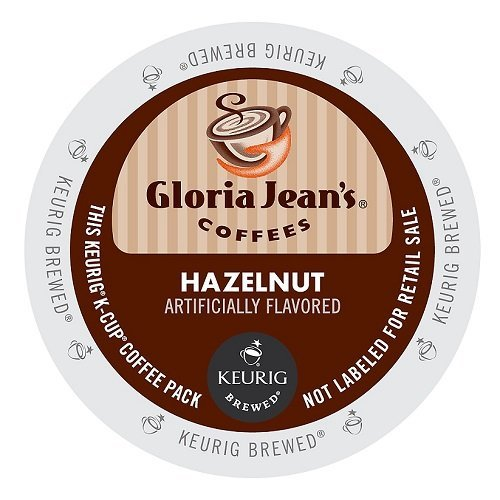 Hazelnut K-cups (Gloria Jean's Coffee Hazelnut, K-Cup Portion Pack for Keurig Brewers)