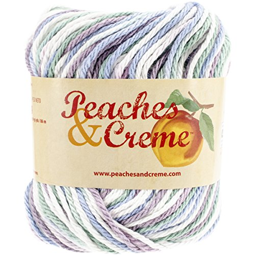 Creme Ombre Yarn (Spinrite Peaches & Creme (Cream) Cotton Yarn Ombre Freshly Pressed)