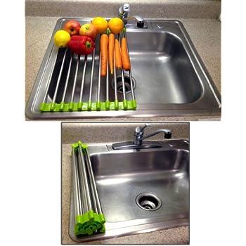 Amazon Com Folding Drain Rack Vegetable Rinsing Station
