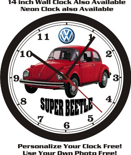 1974 VOLKSWAGEN SUPER BEETLE WALL CLOCK-FREE USA SHIP-Choose 1 of - Muscle Super Cars