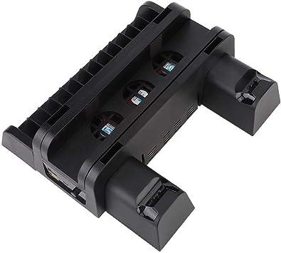 Heayzoki Ventilador de enfriamiento, Soporte de Base de Almohadilla de Host Host Multifuncional con Interfaz de Salida USB 4 y Ventilador de enfriamiento Incorporado 3 para PS4/SLIM/PRO: Amazon.es: Electrónica