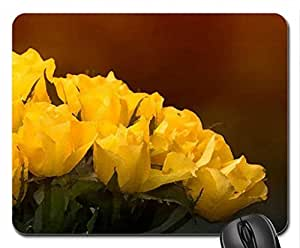 Yellow Roses Mouse Pad, Mousepad (Flowers Mouse Pad, Watercolor style) by mcsharks