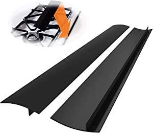 Novsix Soft Silicone Stove Gap Covers, 25 Inch Long 2 Pack Heat Resistant Gap Filler, to Seal gap of Stove Top, Counter, Oven, Dishwasher safe