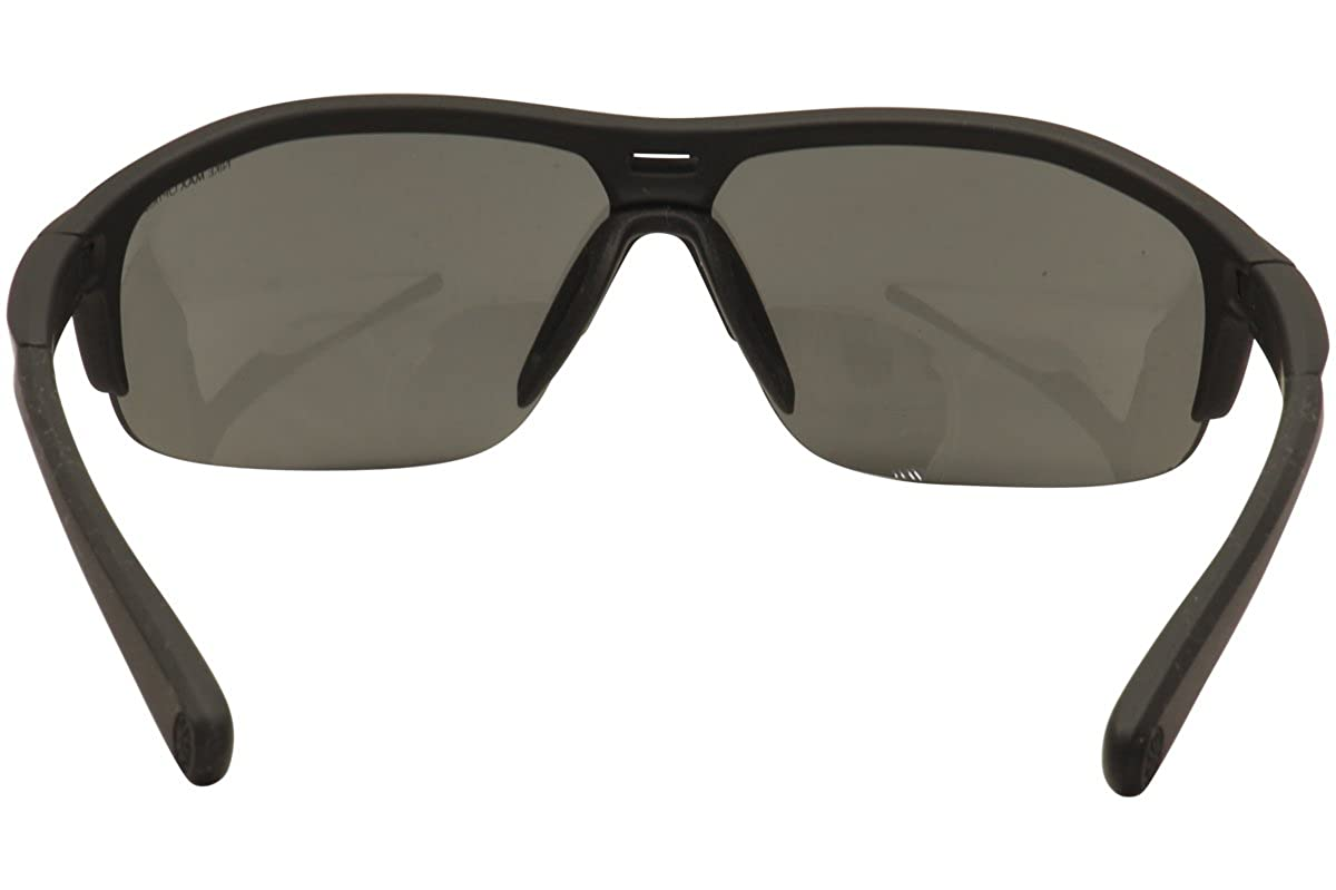Nike Grey with Silver Flash Lens Run X2 Sunglasses, Matte Black Black