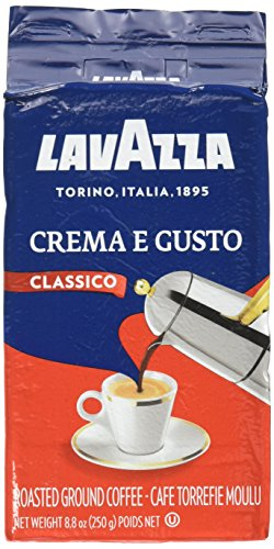 Lavazza Crema e Gusto - Ground Coffee, 8.8-Ounce Bricks (Pack of 4) Packing may vary
