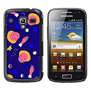 Estuche Cubierta Shell Smartphone estuche protector duro para el teléfono móvil Caso Samsung Galaxy Ace 2 I8160 Ace II X S7560M / CECELL Phone case / / Space Abstract Moon Child Mother