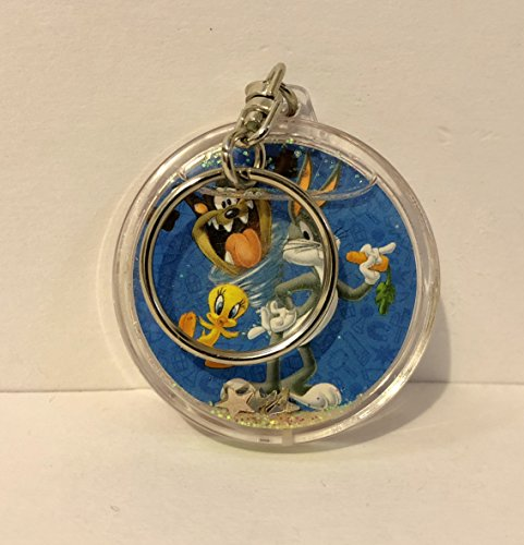 Six Flags Magic Mountain Looney Tunes Snow Globe Keychain