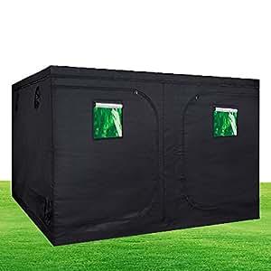 """hongruilite 120""""X120X78'crecer tienda cuarto de cultivo 600d Mylar reflectante Diamond con ventana de observación jardín hidropónico Planta de Crecimiento w/Metal esquina"""