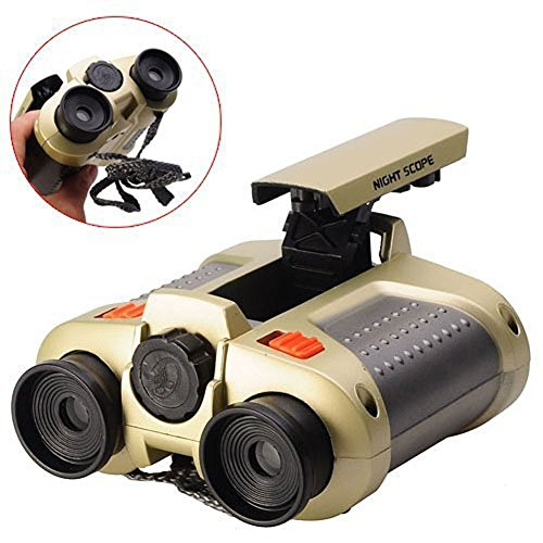 Binoculars for Kids,BIAL Toys Binoculars Night Scope 4x30 Telescope with Pop-up Spotlight and Night-beam Vision Fun Cool Toy Gift for Kids Boys Girls