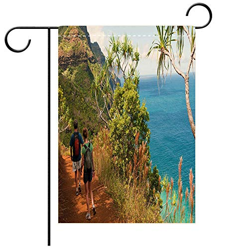 (BEICICI Artistically Designed Yard Flags, Double Sided Kauai Vacation and Kalalau Trail Decorative Deck, Patio, Porch, Balcony Backyard, Garden or Lawn)