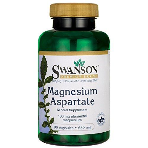 Swanson Magnesium Aspartate 685 Milligrams (133 Milligrams Elemental) 90 - Capsules 90 Aspartate Magnesium