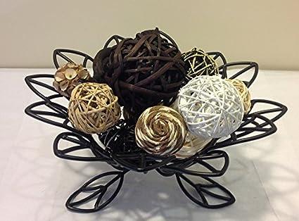 Amazon Jodhpuri Inc Decorative Spheres Black Rattan Vase