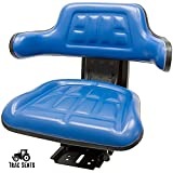 BLUE FORD / NEW HOLLAND 3000 3010 3600 3610 3900 3910 TRAC SEATS BRAND WAFFLE STYLEUNIVERSAL TRACTOR SUSPENSION SEAT WITH TILT FOR (SAME DAY SHIPPING - GET IT FAST!! VIEW OUR TRANSIT MAP)
