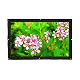 16:9 200''Portable Projector Screen,Rear Projection Screen with Hanging Holes for School and Outdoor Projecting