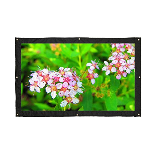 16:9 200''Portable Projector Screen,Rear Projection Screen with Hanging Holes for School and Outdoor Projecting by VGEBY