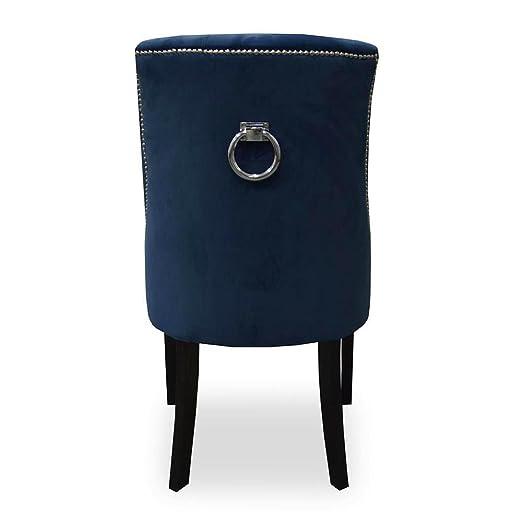 Belle Fierté Un par de sillas de Comedor de Terciopelo con ...