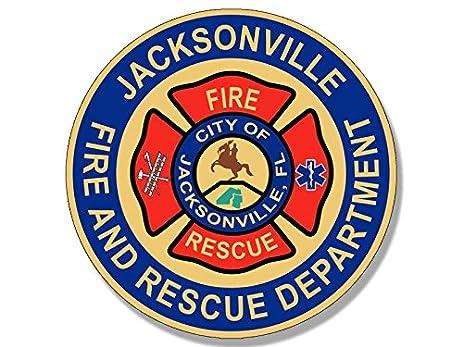 Round jacksonville florida fire and rescue dept sticker emt fl firefighter