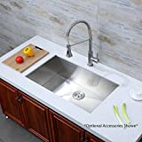 Decor Star H-001-Z V2 Undermount Single Bowl 16 Gauge Stainless Steel Luxury Handmade Kitchen Sink cUPC Zero Radius