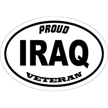 Veteran decal proud iraq veteran vinyl sticker veteran bumper sticker iraq decal