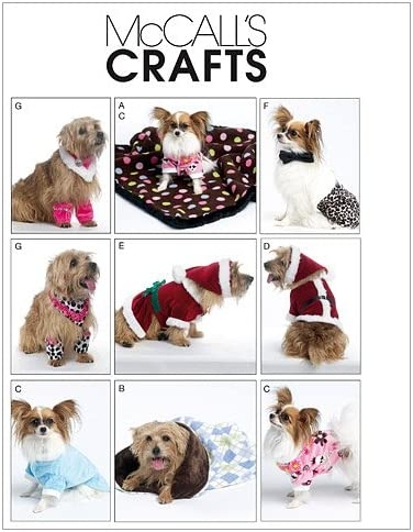 McCalls Patterns M6218 Dog Clothes