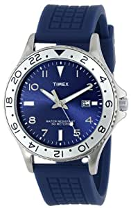 Timex Men's T2P032KW Ameritus Silver-Tone Watch with Blue Band