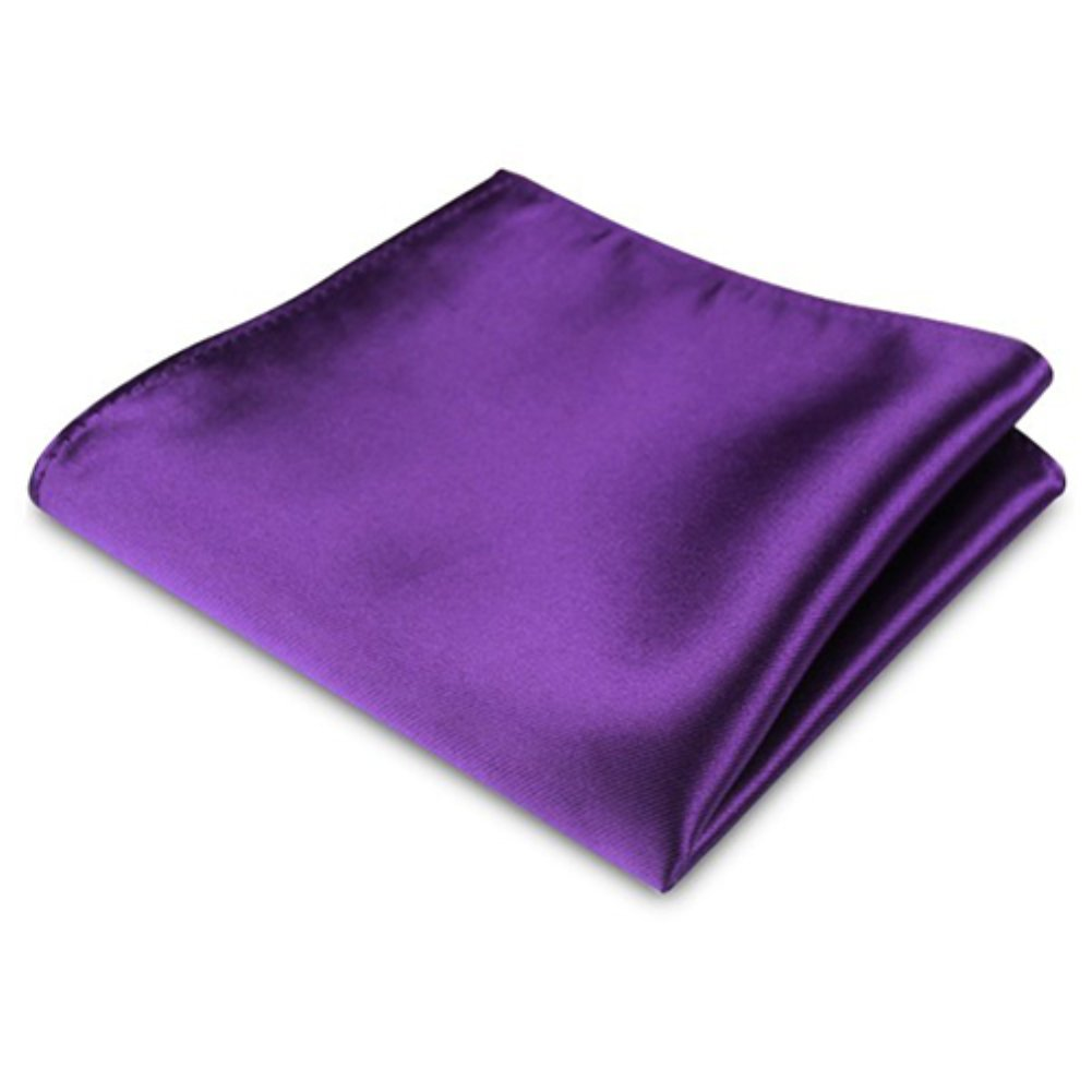 Gloryhonor Mens Satin Solid Plain Color Handkerchief Hanky Pocket Square for Wedding Party