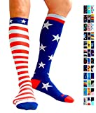 Compression Socks (1 pair) for Women & Men by A-Swift (Stars & Stripes, L/XL)