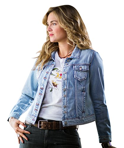 Ryan Michael - Double Button Denim Jacket Contrast Thread with SW Shank Buttons