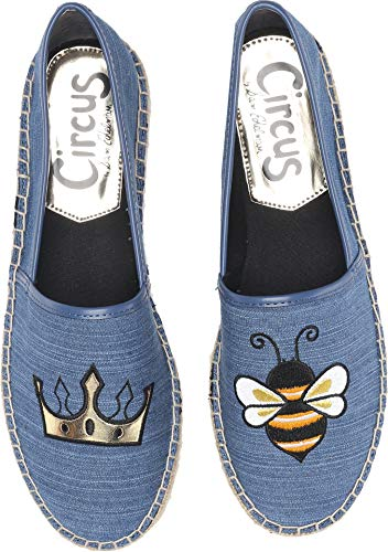 Circus by Sam Edelman Women's Leni-6 Moccasin, Mid Blue, 10 M US for $<!--$19.99-->