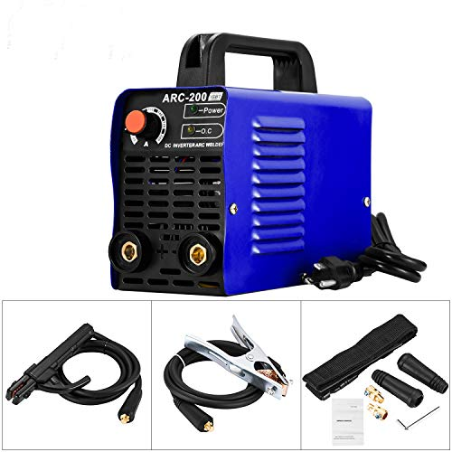 Karomch ARC 200 Welder IGBT AC DC 110V Inverter Welding Machine 200 AMP Mini Welders Suit 2.5-3.2 MM Welding Rod Equipment with Accessories Tools