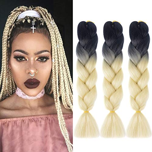 Used, DingDian Jumbo Braiding Hair Extensions Ombre Kanekalon for sale  Delivered anywhere in USA